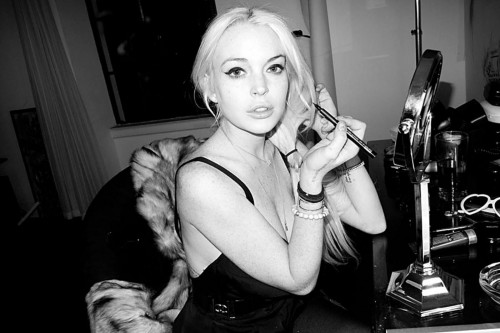 Lindsay Lohan posa per Cleavage da Terry Richardson 01
