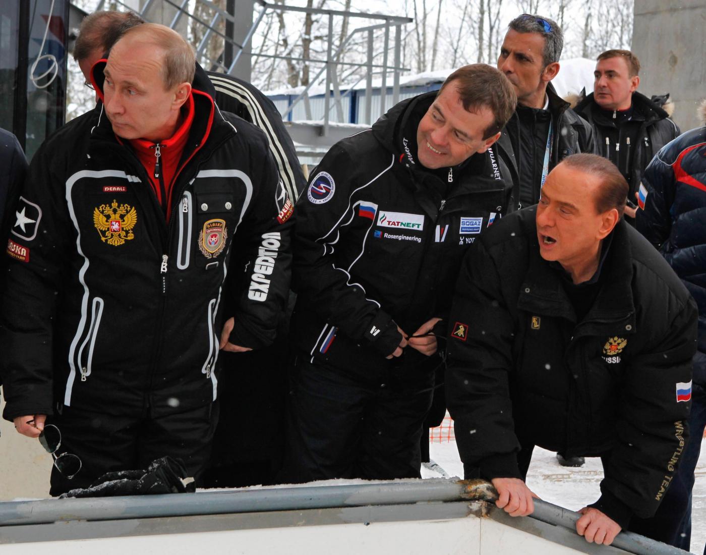 Vladimir Putin e Silvio Berlusconi a Krasnaja Poliana01