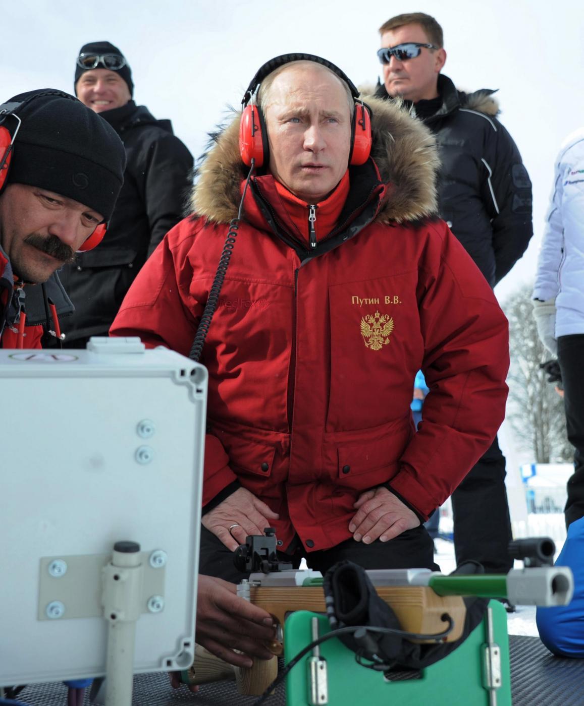 Vladimir Putin e Silvio Berlusconi a Krasnaja Poliana04