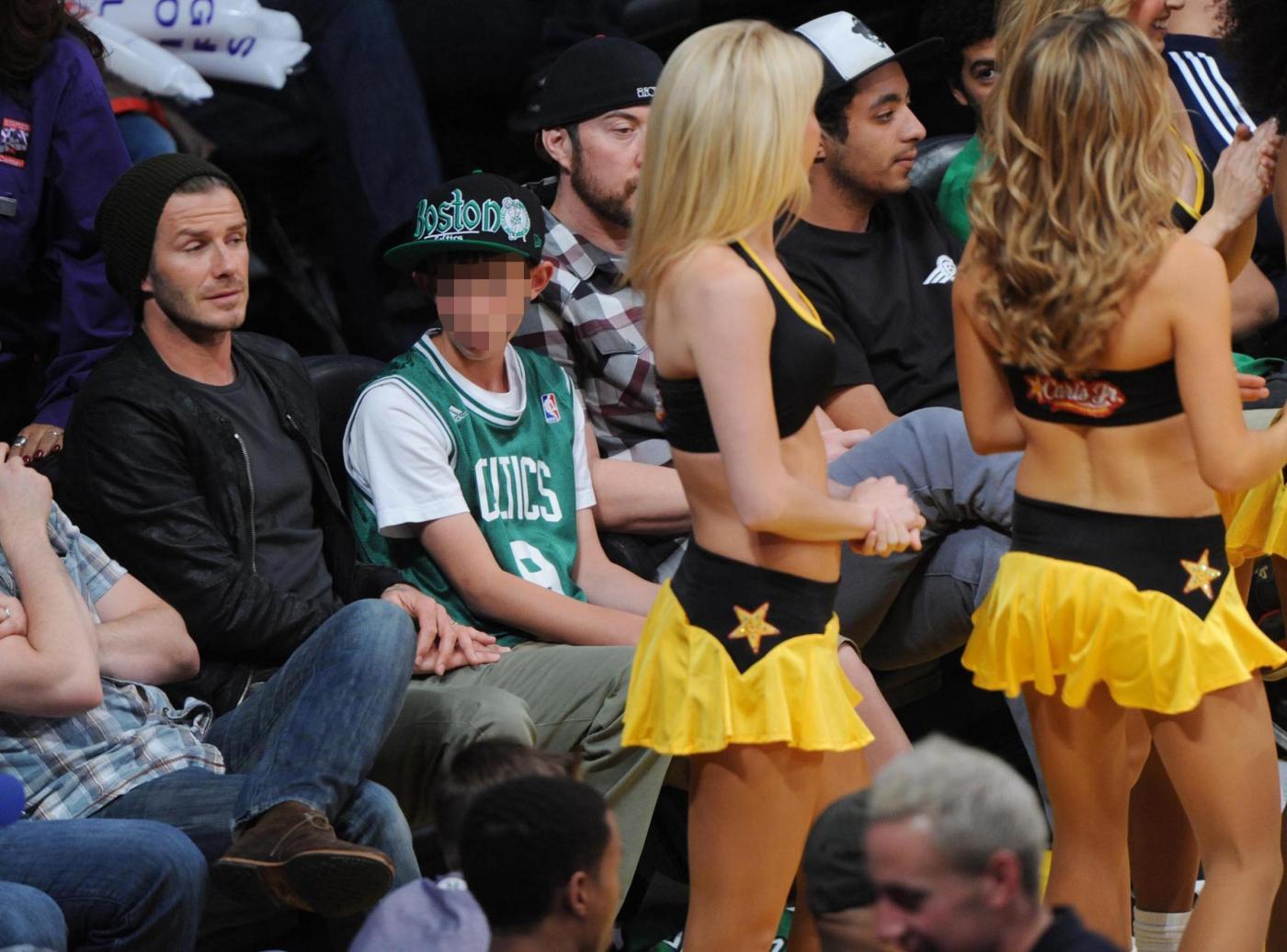 David Beckham alla partita Los Angeles Lakers vs. Boston Celtics04