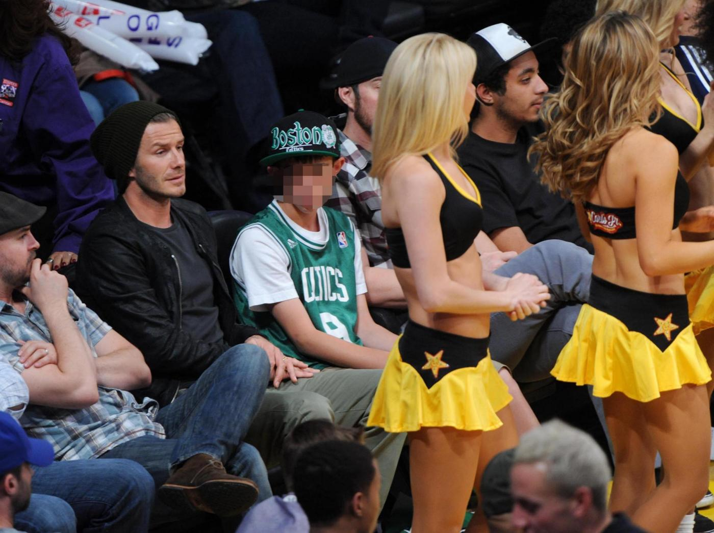 David Beckham alla partita Los Angeles Lakers vs. Boston Celtics05