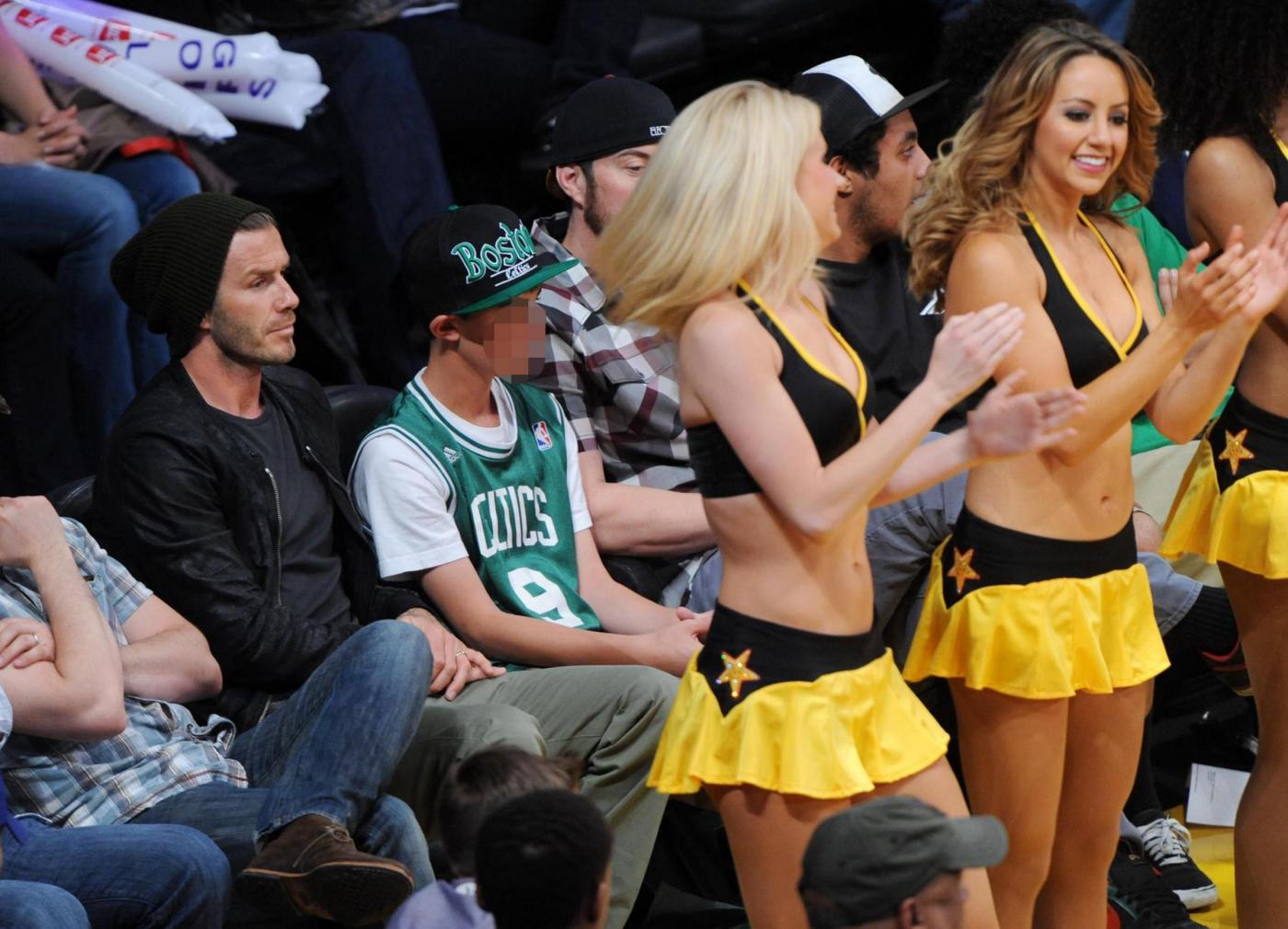 David Beckham alla partita Los Angeles Lakers vs. Boston Celtics06