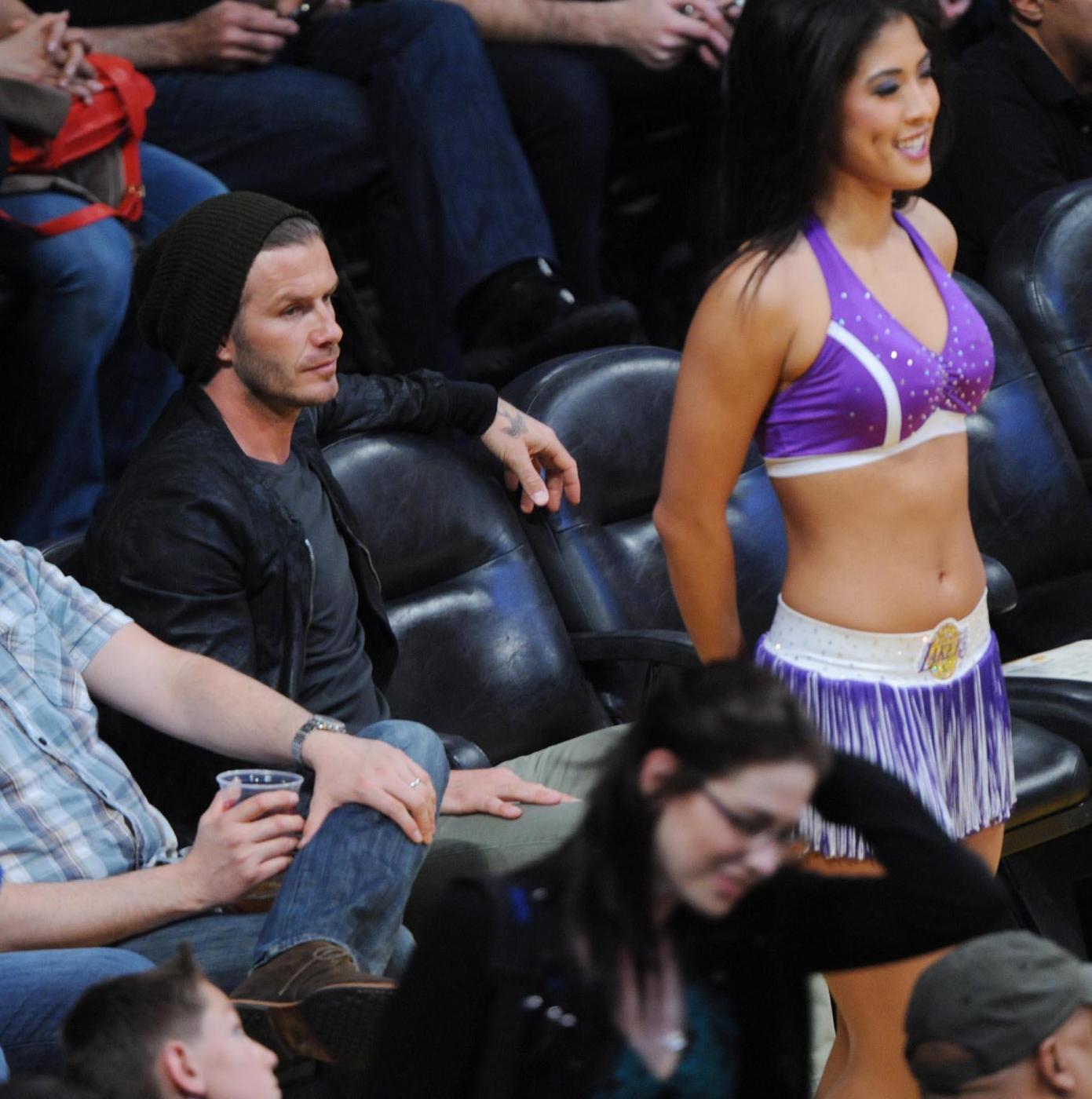 David Beckham alla partita Los Angeles Lakers vs. Boston Celtics008