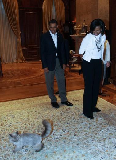 Dorofey con gli Obama
