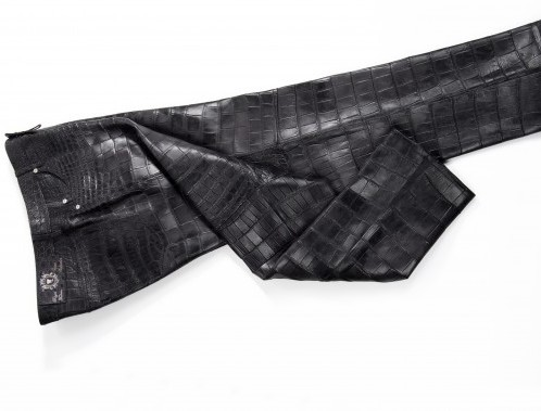 jeans in alligatore Caviar