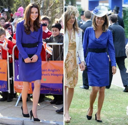 Kate e Carol Middleton stesso vestito Reiss