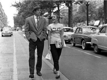 Jean Seberg e Jean Paul Belmondo