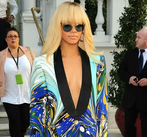Rihanna in Stella McCartney blazer 01