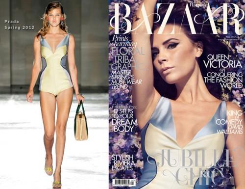 Victoria Beckham Harpers Bazaar Prada