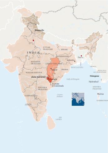 india cartina-Dantewada