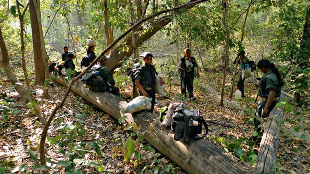Un accampamento di maoisti