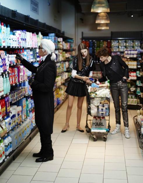 Karl Lagerfeld Elle Francia supermarket