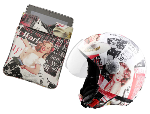 casco moto e porta ipad Marylin's Style