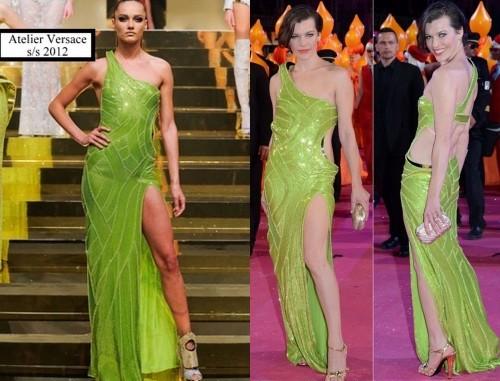 Milla Jovovich Atelier Versace