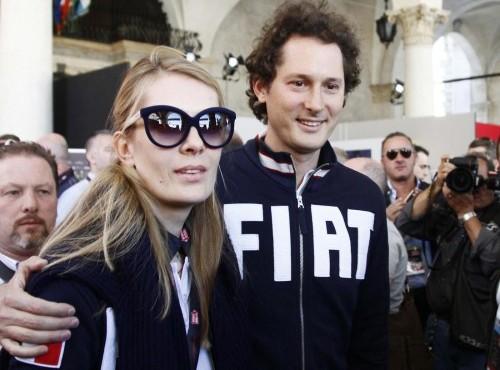 Jonh Elkann con la moglie Lavinia Borromeo alla Mille Miglia08