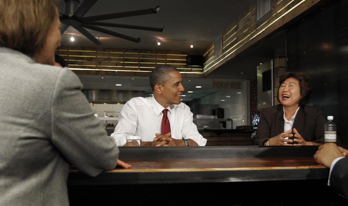 Barack Obama in paninoteca a Washington 0