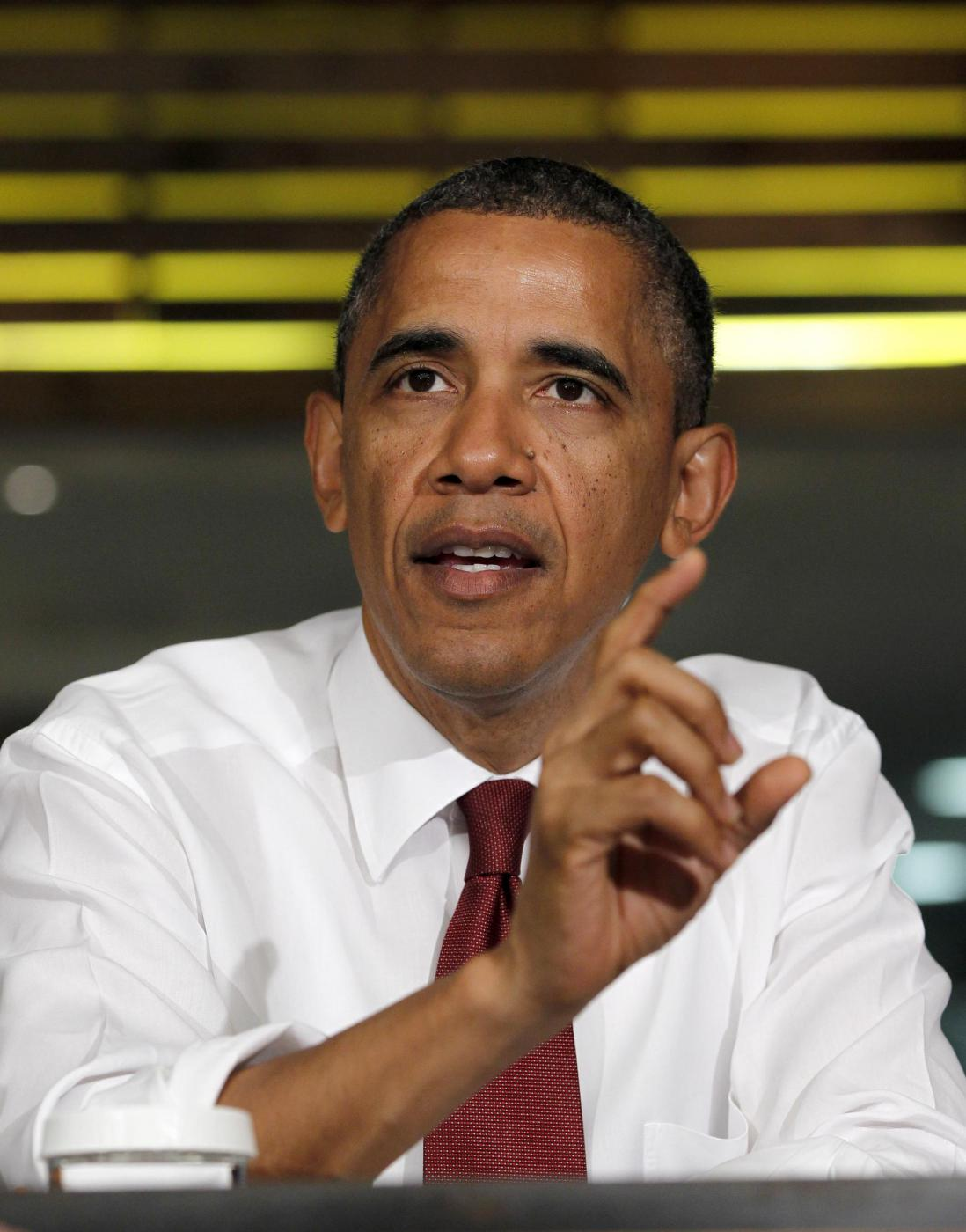 Barack Obama in paninoteca a Washington 05