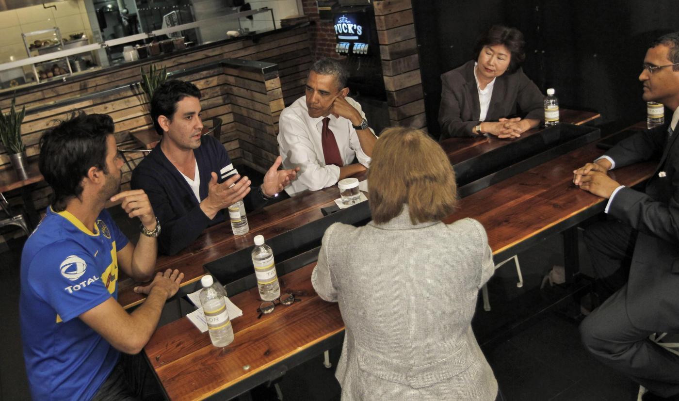 Barack Obama in paninoteca a Washington 06