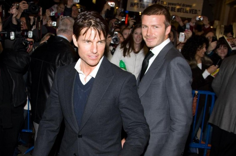 Tom Cruise e David Beckham