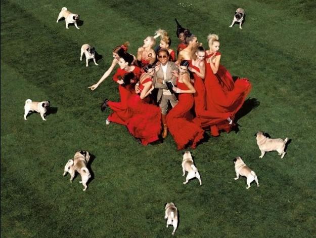 Valentino coi suoi cani