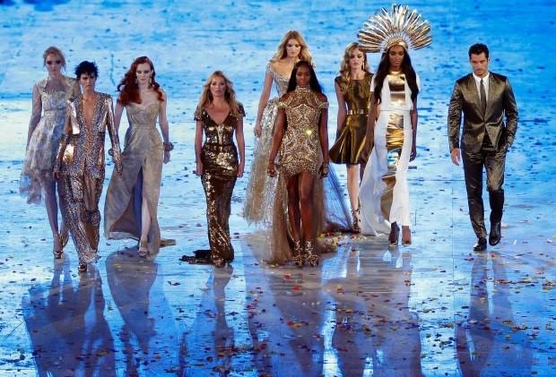 Top Model cerimonia chiusura Olimpiadi Londra 2012 10