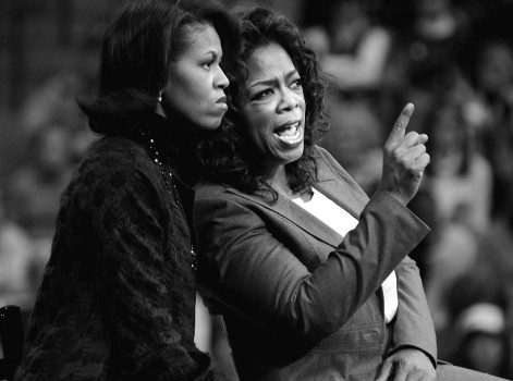 Michelle Obama e Oprah Winfrey