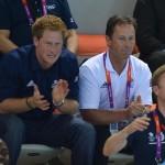 Olimpiadi 2012 -Il Principe Harry alla sessione finale di nuoto04