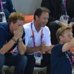 Olimpiadi 2012 -Il Principe Harry alla sessione finale di nuoto03