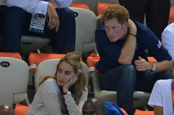 Olimpiadi 2012 -Il Principe Harry alla sessione finale di nuoto01