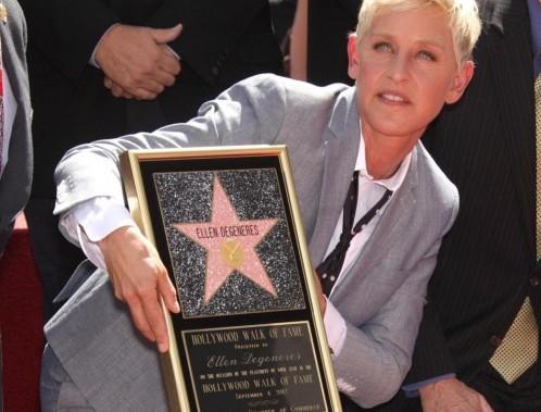 Ellen DeGeneres, stella sulla Walk of Fame a Los Angeles03