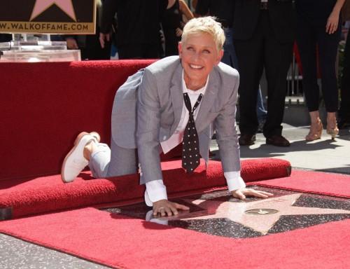 Ellen DeGeneres, stella sulla Walk of Fame a Los Angeles02