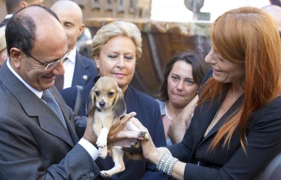 Michela Brambilla e il presidente del Senato Renato Schifani 01