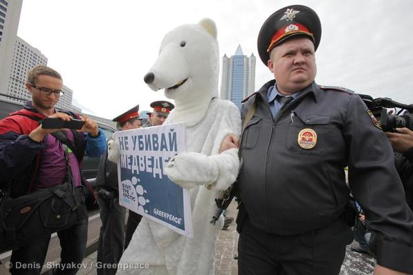 Action at Gazprom HQ in Moscow02