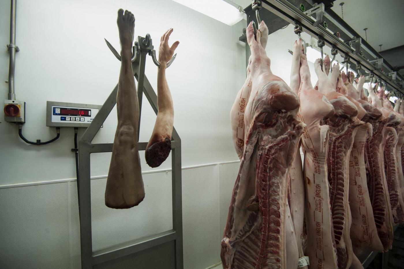 La macelleria 'Human butchery' apre a Londra08