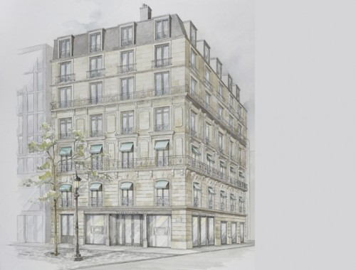 Tiffany & Co sugli Champs Elysées