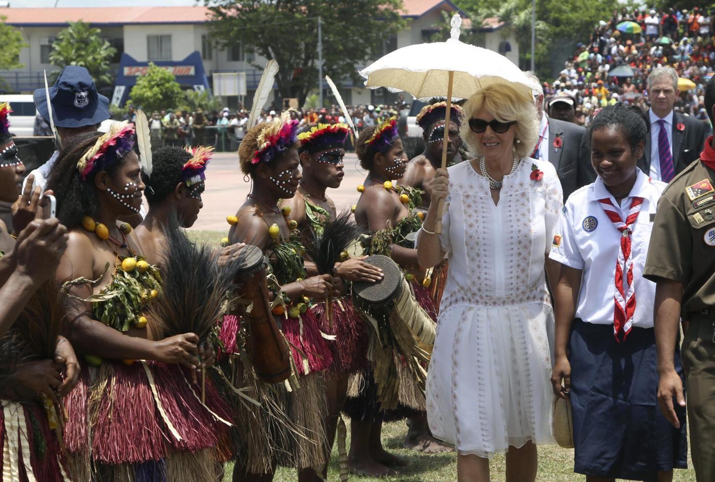 Il Principe Carlo e la consorte Camilla in Papua Nuova Guinea06