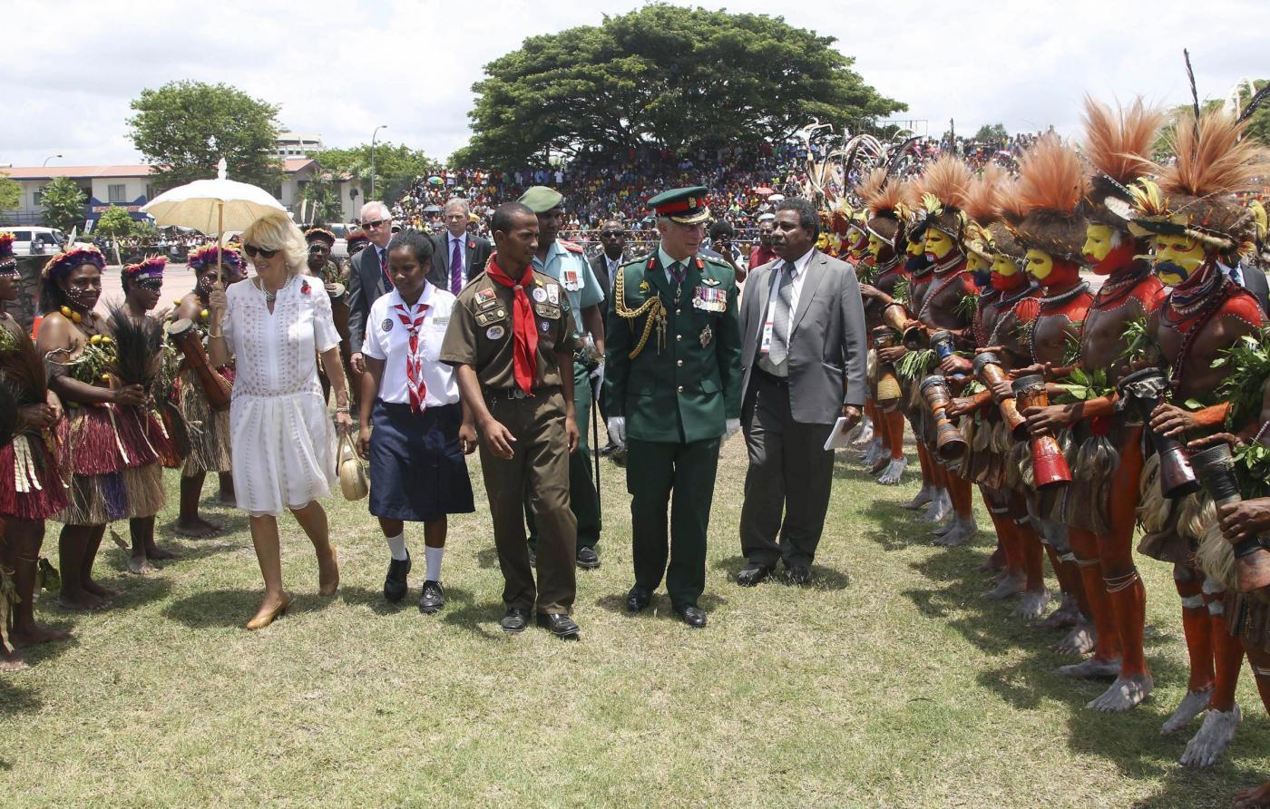 Il Principe Carlo e la consorte Camilla in Papua Nuova Guinea03