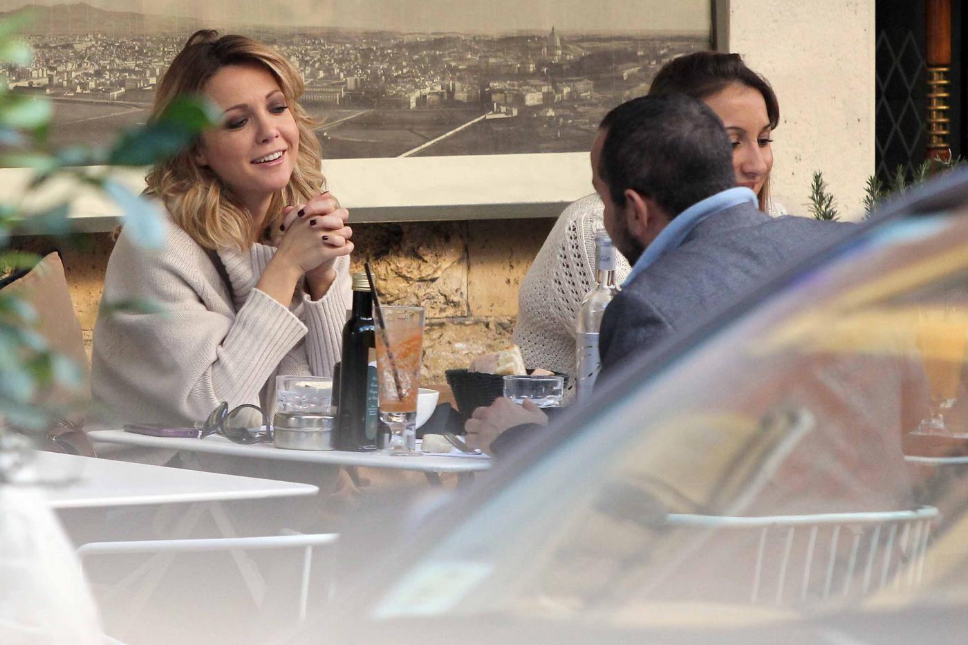 """Georgia Luzi a pranzo con Guido Carpineti, autore di """"Forum""""09"""