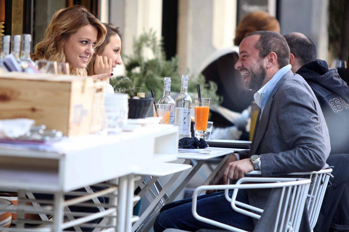 """Georgia Luzi a pranzo con Guido Carpineti, autore di """"Forum""""08"""