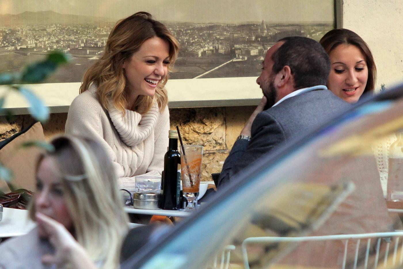 """Georgia Luzi a pranzo con Guido Carpineti, autore di """"Forum""""06"""