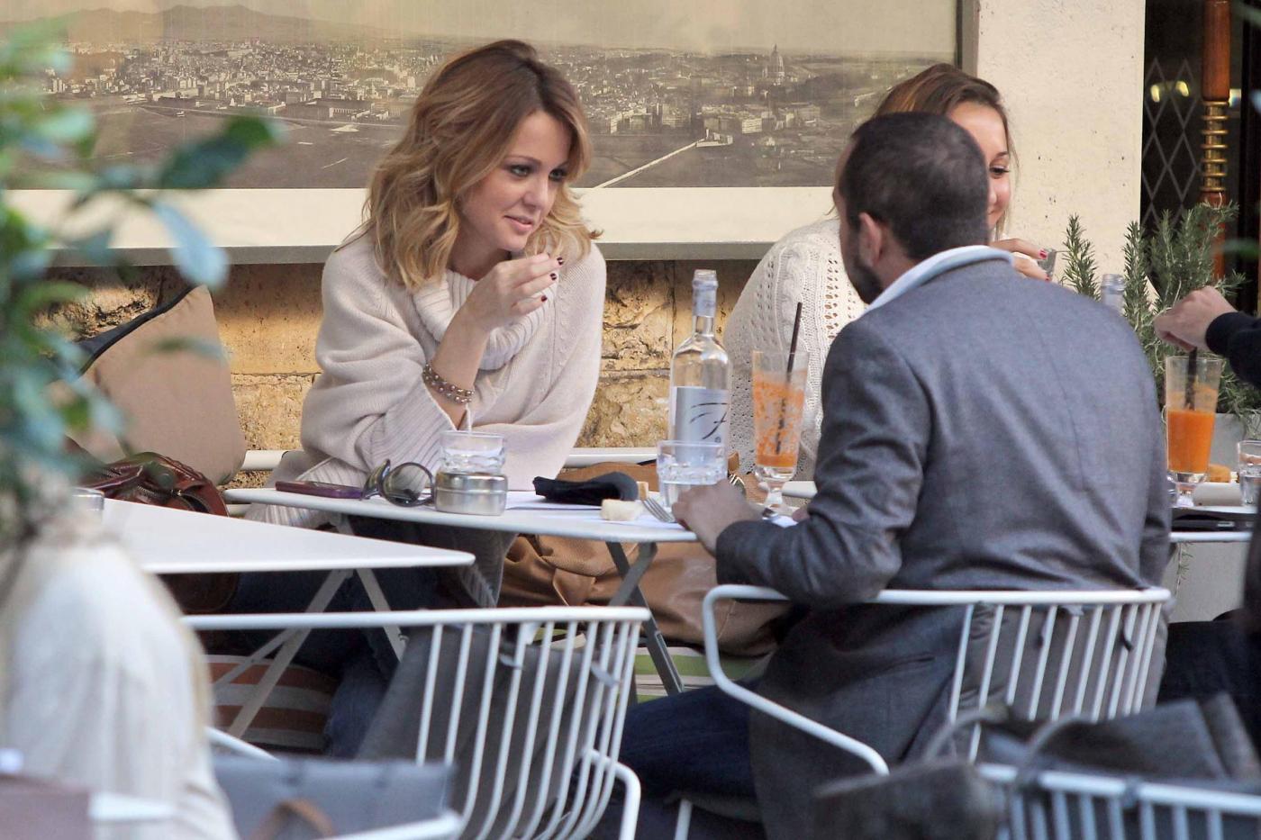 """Georgia Luzi a pranzo con Guido Carpineti, autore di """"Forum""""05"""