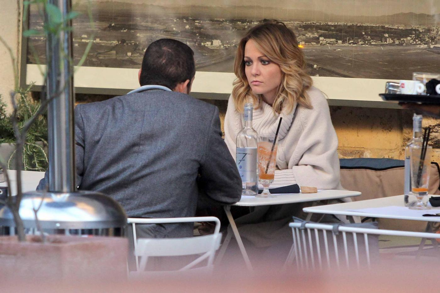 """Georgia Luzi a pranzo con Guido Carpineti, autore di """"Forum""""04"""