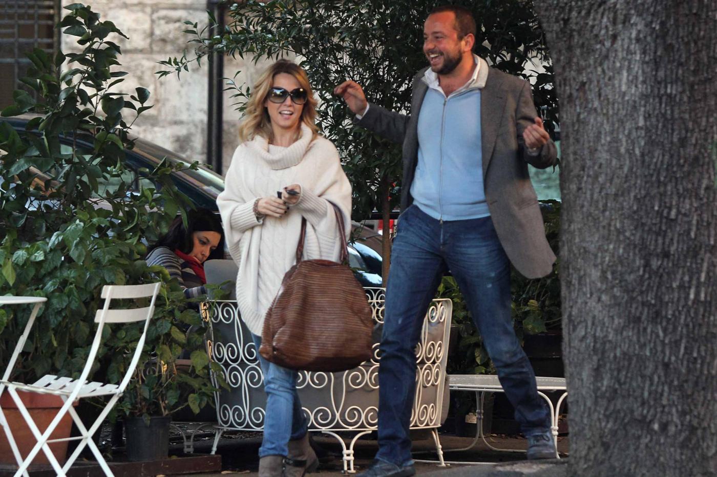 """Georgia Luzi a pranzo con Guido Carpineti, autore di """"Forum""""03"""