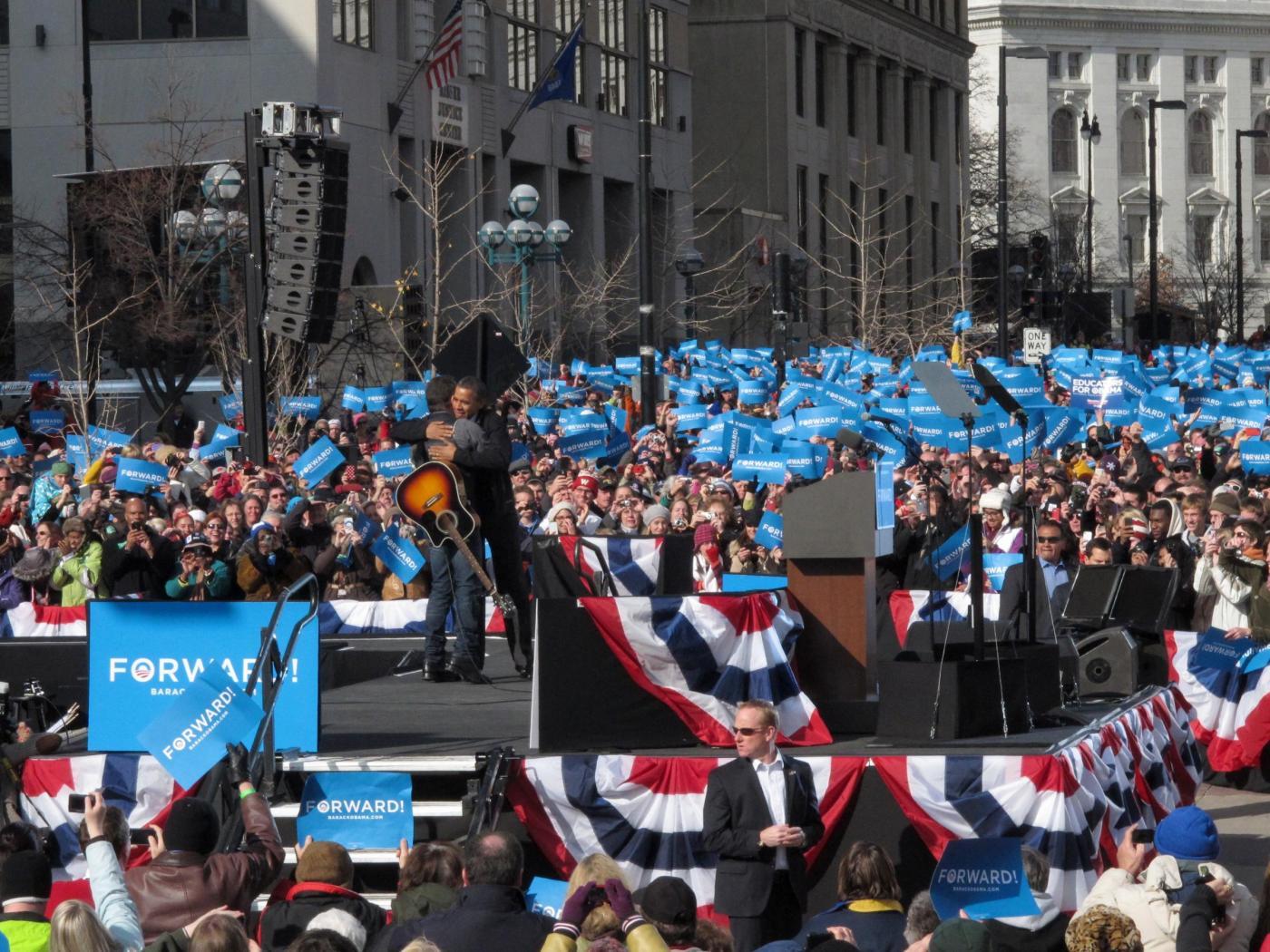 Elezioni USA, Bruce Springsteen suona per Obama09