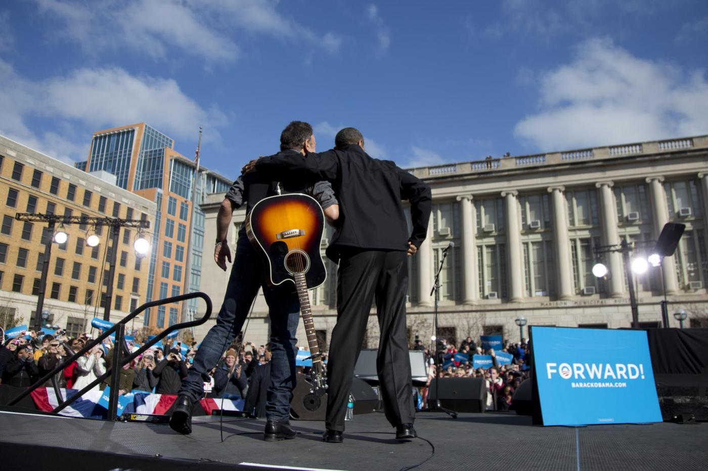 Elezioni USA, Bruce Springsteen suona per Obama08