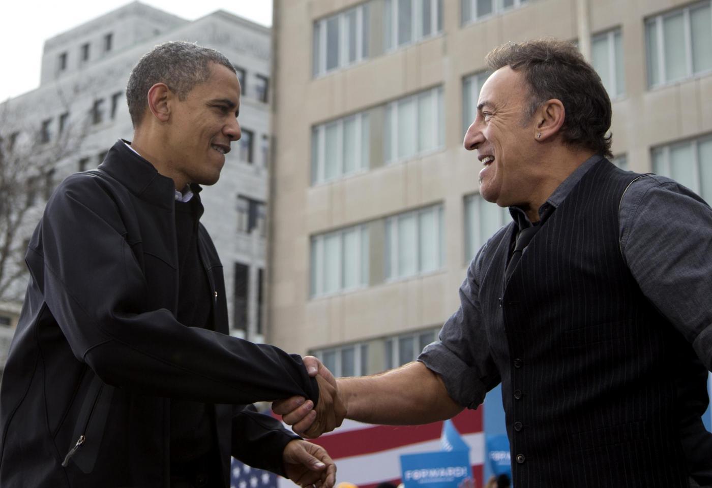 Elezioni USA, Bruce Springsteen suona per Obama07