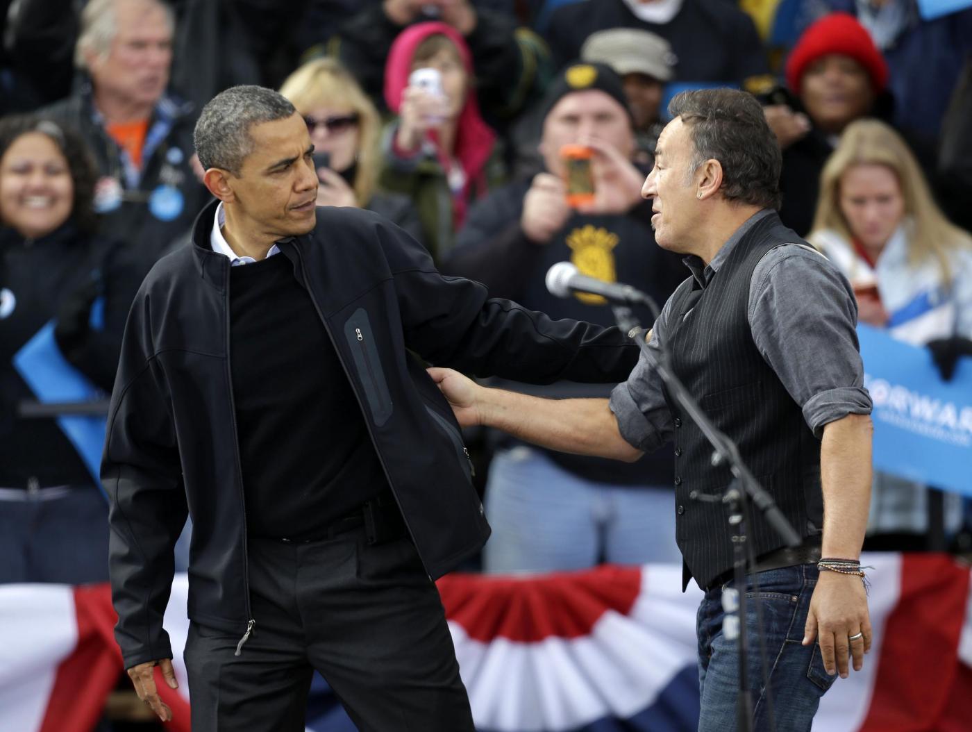 Elezioni USA, Bruce Springsteen suona per Obama06