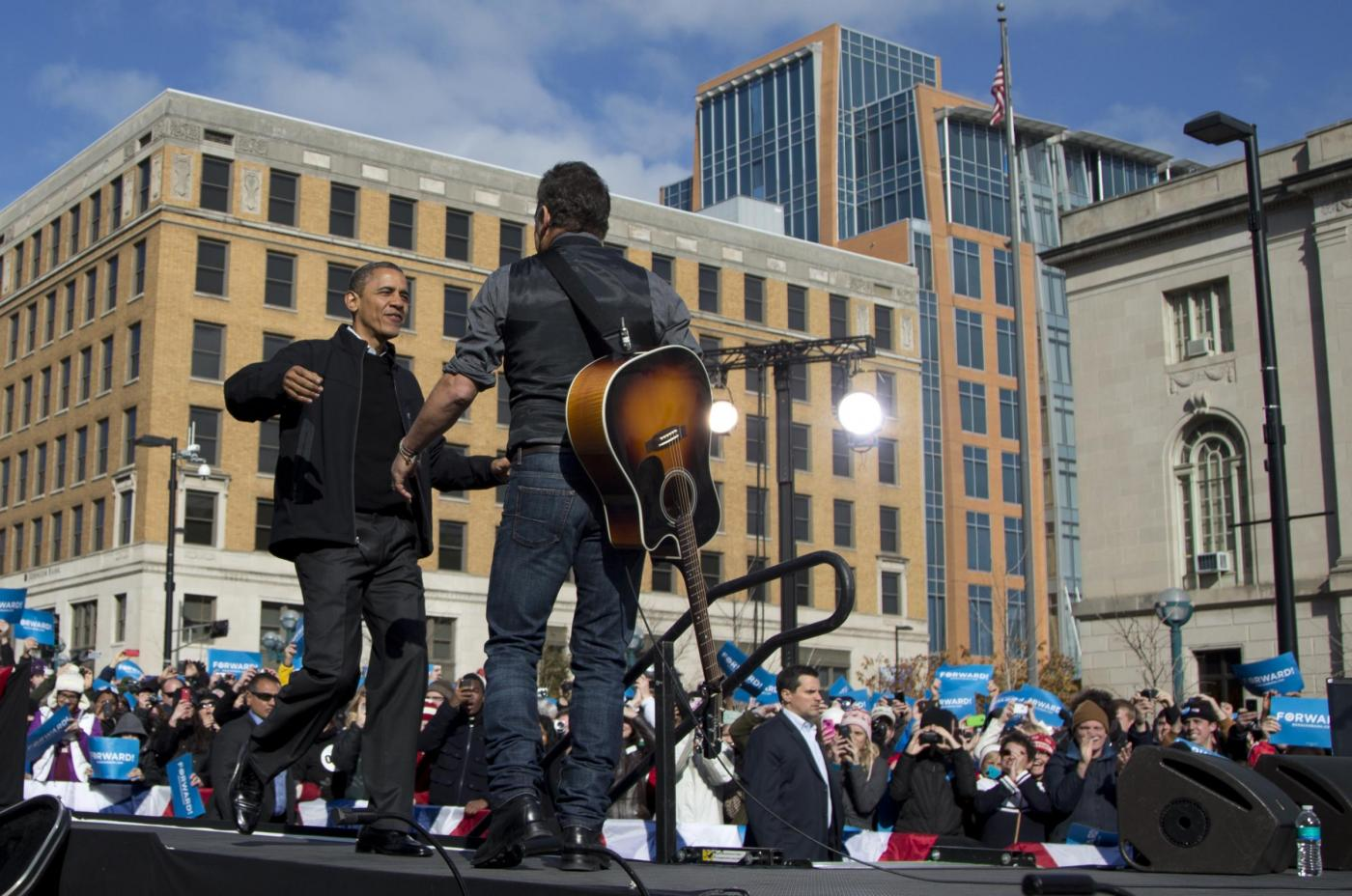 Elezioni USA, Bruce Springsteen suona per Obama03