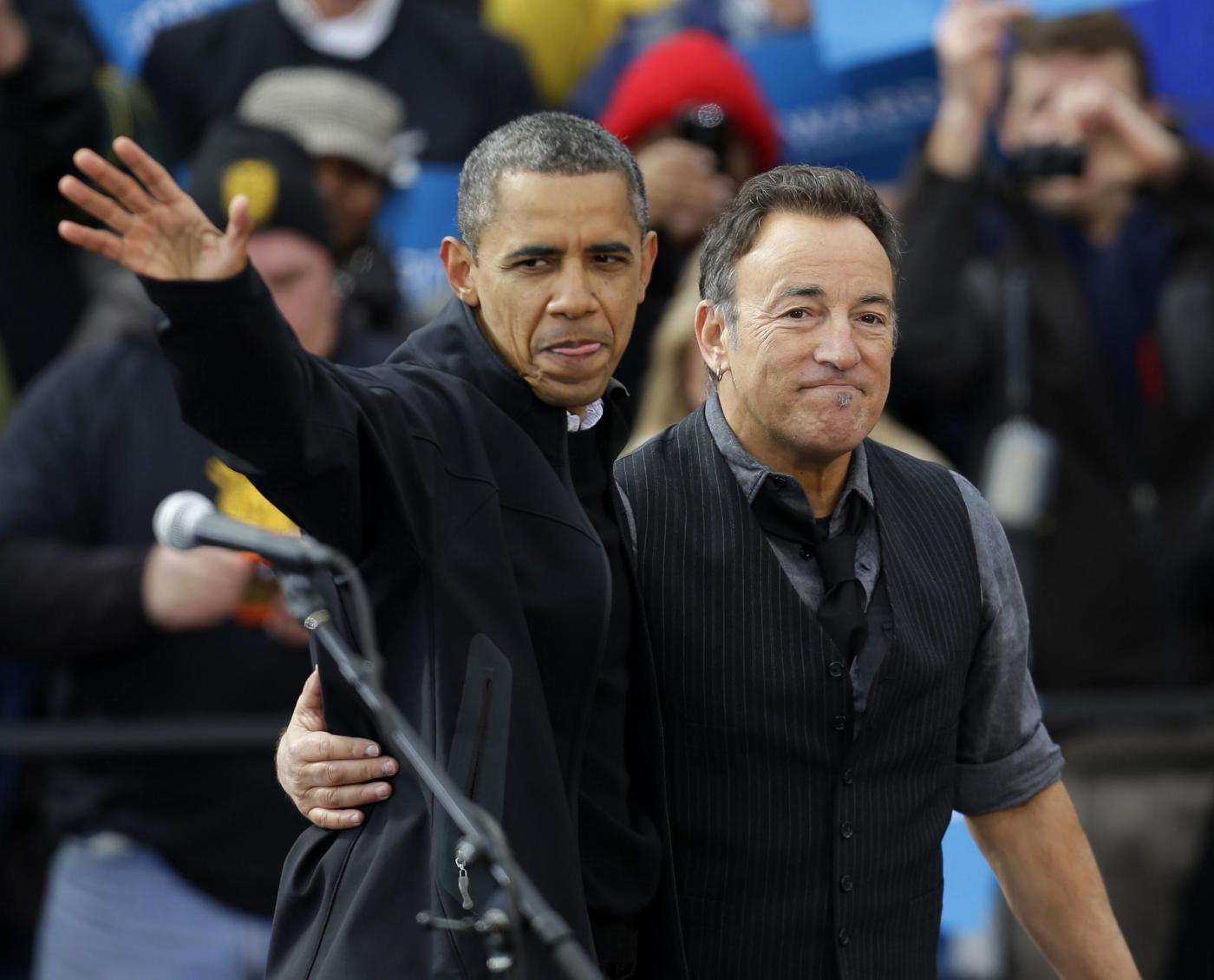 Elezioni USA, Bruce Springsteen suona per Obama01