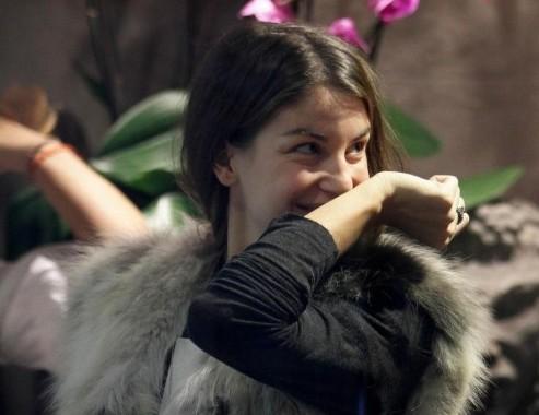 Francesca Fioretti in profumeria a Milano01